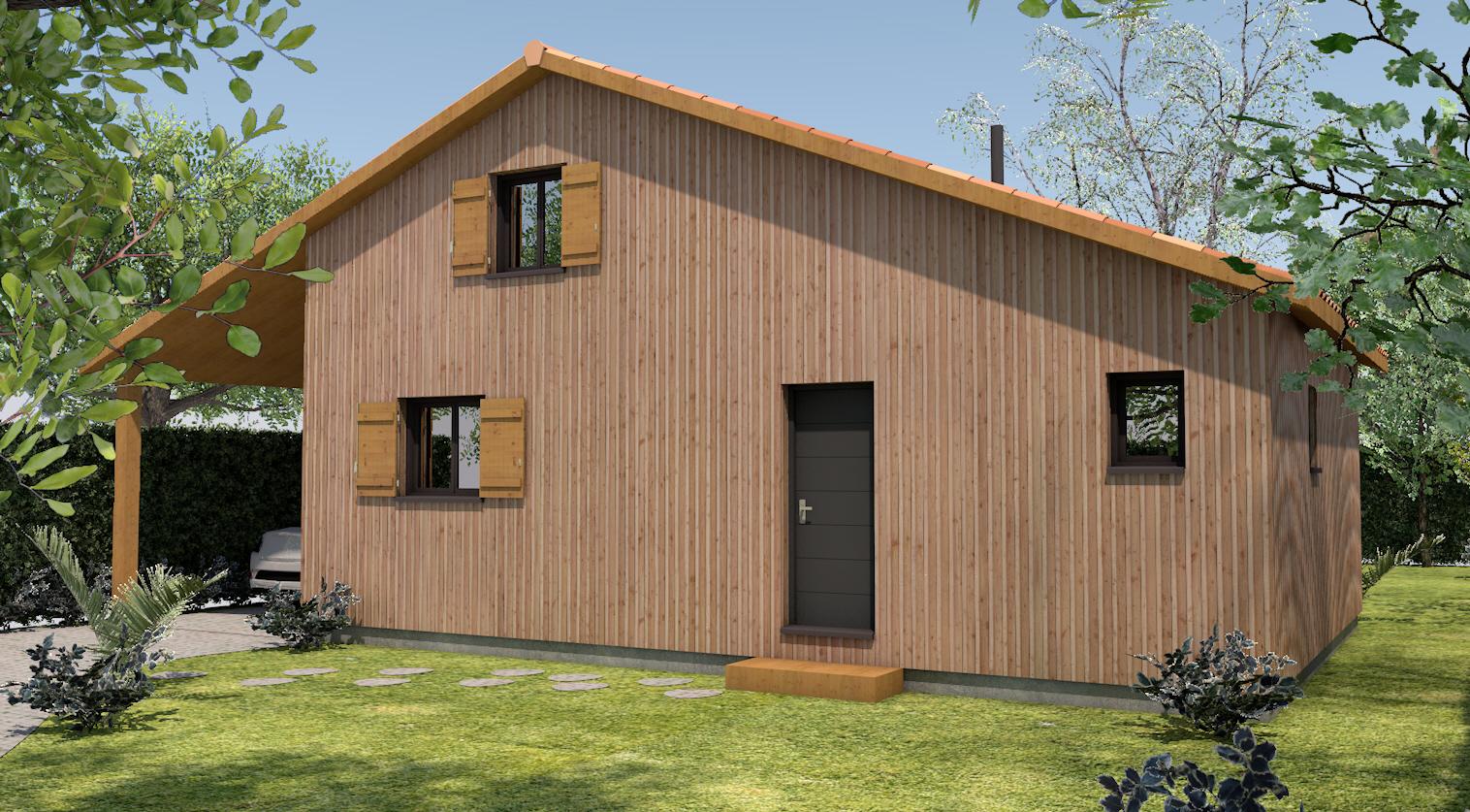 Maisons Maison Ossature Bois Pin des Landes